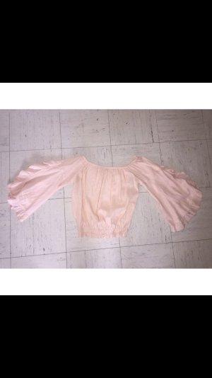 Bershka Ruffled Blouse nude
