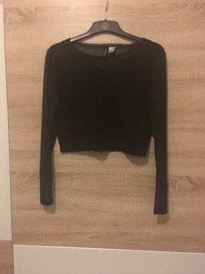 Bauchfreie Bluse in schwarz