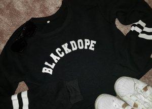Fleece Jumper white-black