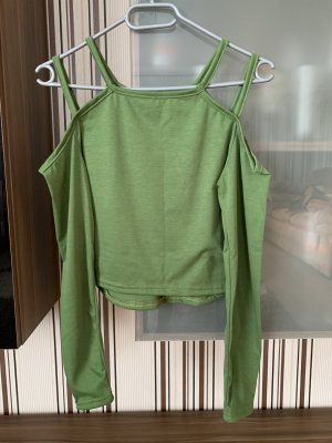 Jersey de cuello alto verde oliva