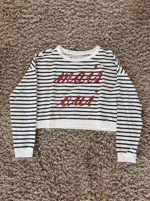Bauchfreier Pullover mit Aufschrift