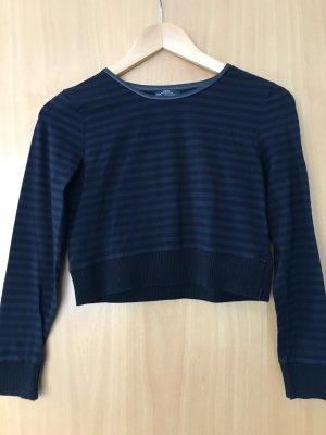 Zara Suéter negro-azul oscuro