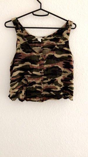 Bauchfreies Camouflage Oberteil