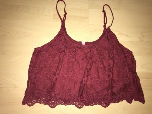 FB Sister Spaghetti Strap Top dark red