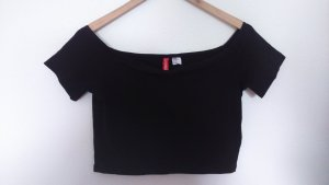 Bauchfreies / kurzes Off-Shoulder T-Shirt
