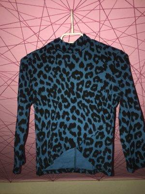 Bauchfreies Leopardenshirt