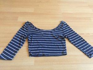 Abercrombie & Fitch Camisa de rayas blanco-azul