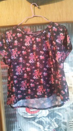 FB Sister Cropped shirt zwart-framboosrood