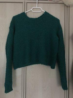 Jersey de cuello redondo verde bosque-verde oscuro