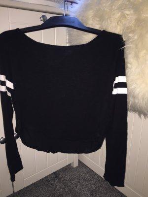 H&M Cropped shirt zwart-wit