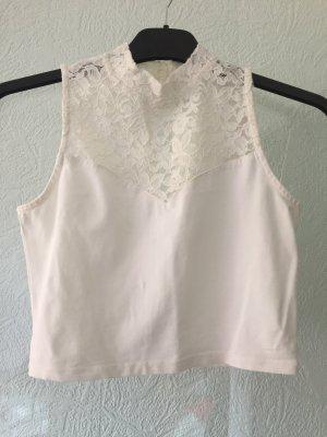 Fashion New York Cropped Shirt white