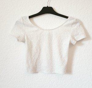 Bauchfreies Spitzenshirt