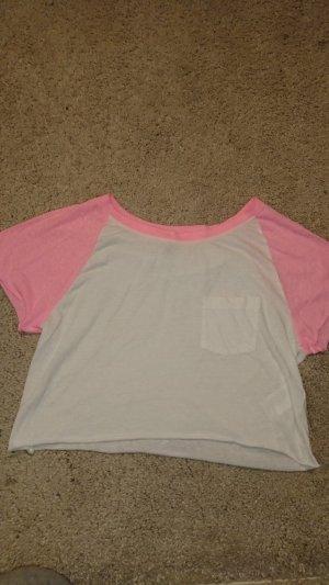 H&M Divided T-shirt wit-rosé