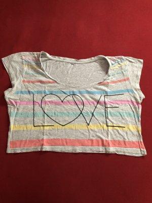 T-shirt court gris-gris clair