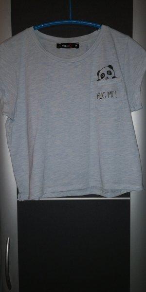 Cropped shirt azuur
