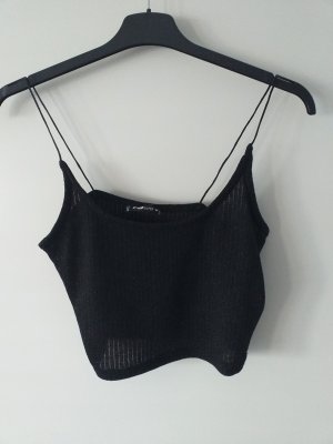 New York & Company Haut à fines bretelles noir-argenté