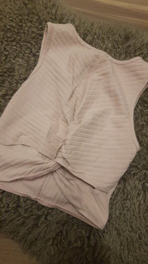 Bershka Cut out top stoffig roze
