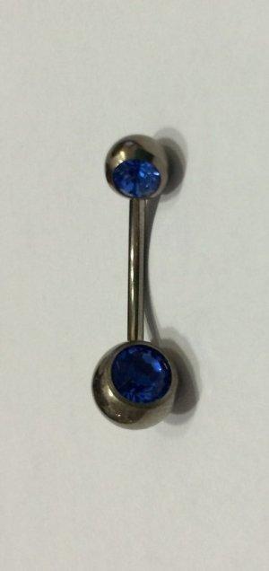 Broche blauw-zilver
