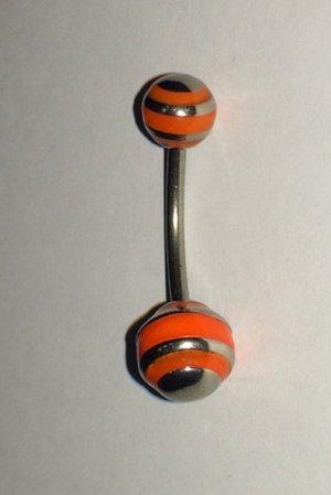 Broche donker oranje-zilver