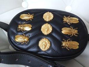 Riñonera negro-color oro Imitación de cuero