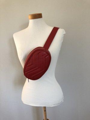 Bauchtasche - Rotes Leder