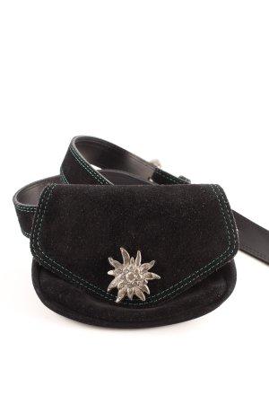 Bauchtasche schwarz Vintage-Look
