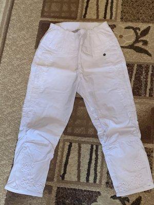 Tredy Pantalone a vita alta bianco