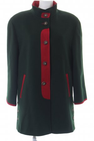 Bauer Fleece Jackets dark green-red classic style