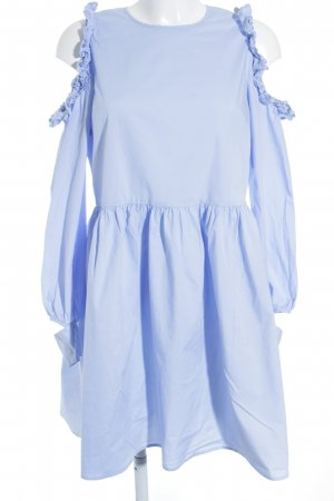 Baum und Pferdgarten Cut-Out-Kleid hellblau Romantik-Look