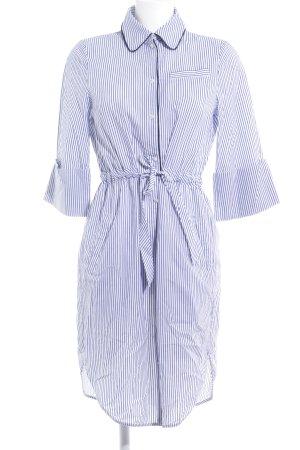 Baum und Pferdgarten Robe chemise bleu-blanc motif rayé style décontracté