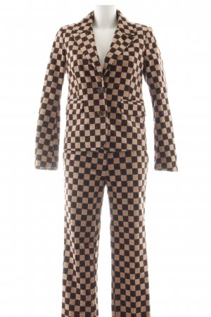 Baum und Pferdgarten Trouser Suit black-brown check pattern business style