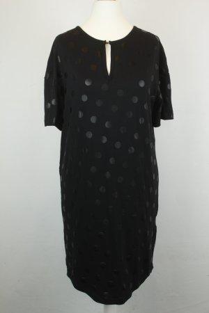 Baum und Pferdgarten Kleid Kurzarmkleid Gr. XS schwarz Punkte tiefer Rückenausschnitt NEU