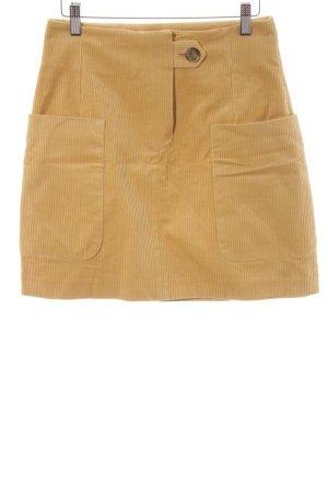 Baum und Pferdgarten Mini-jupe jaune foncé motif rayé style anglais