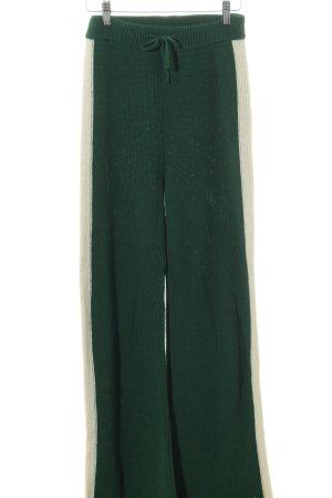 Baum und Pferdgarten Pantalon en jersey vert foncé-crème style décontracté