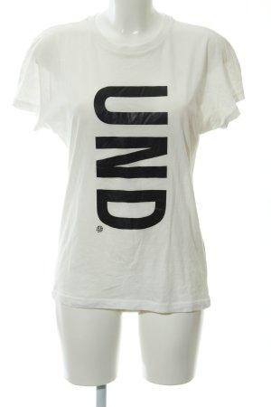 Baum und Pferdgarten T-Shirt wollweiß Schriftzug gedruckt Casual-Look