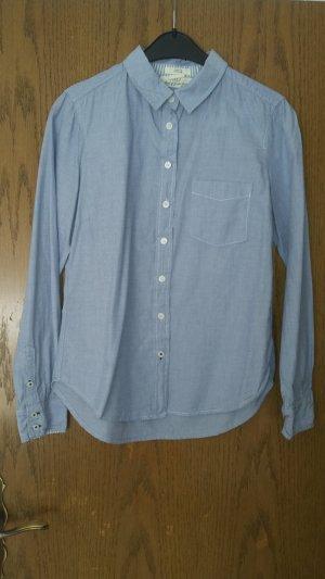 Baumwoll- Bluse in Jeanslook