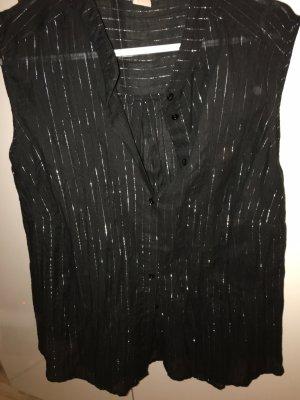 Baumwoll Bluse mit Lurex von H&M