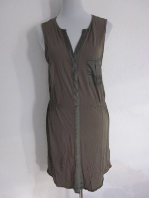 Baumwoll Kleid Oliv Gr M