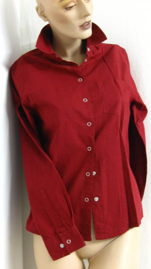 Arizona Camisa de manga larga burdeos Algodón