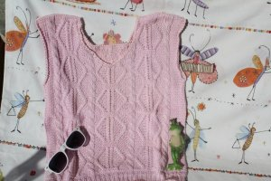 Short Sleeve Knitted Jacket light pink