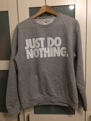 Baumwoll-Pullover, 'JUST DO NOTHING'