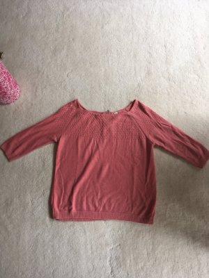 Baumwoll-Pullover mit besonderem Strickmuster