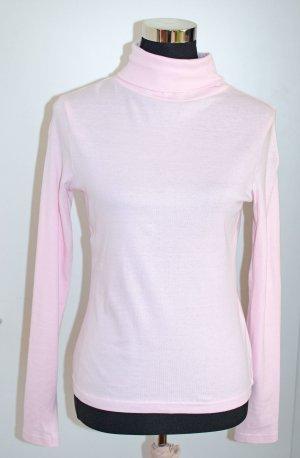 Baumwoll-Rolli Rollkragen-Shirt hellrosa S (36/38), wie neu