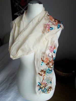 Baumwoll Schal mit Pailletten