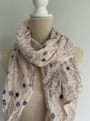 V Milano Silk Scarf pink-dark blue mixture fibre
