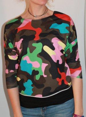 Baumwoll-Shirt im Camouflage-Look