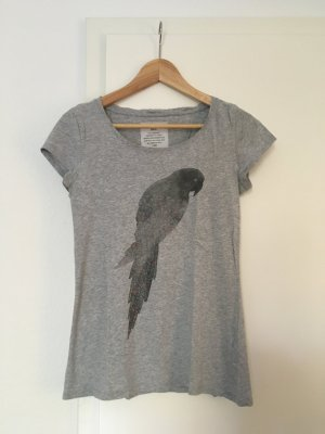 armedangels T-Shirt light grey cotton