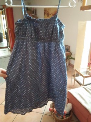 Alive Pinafore dress steel blue