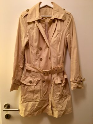 Baumwoll-Trenchcoat, Champagne (36/38)