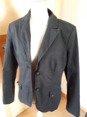 Baumwollblazer S.Oliver in grau mit leichten Streifen in Gr. 40
